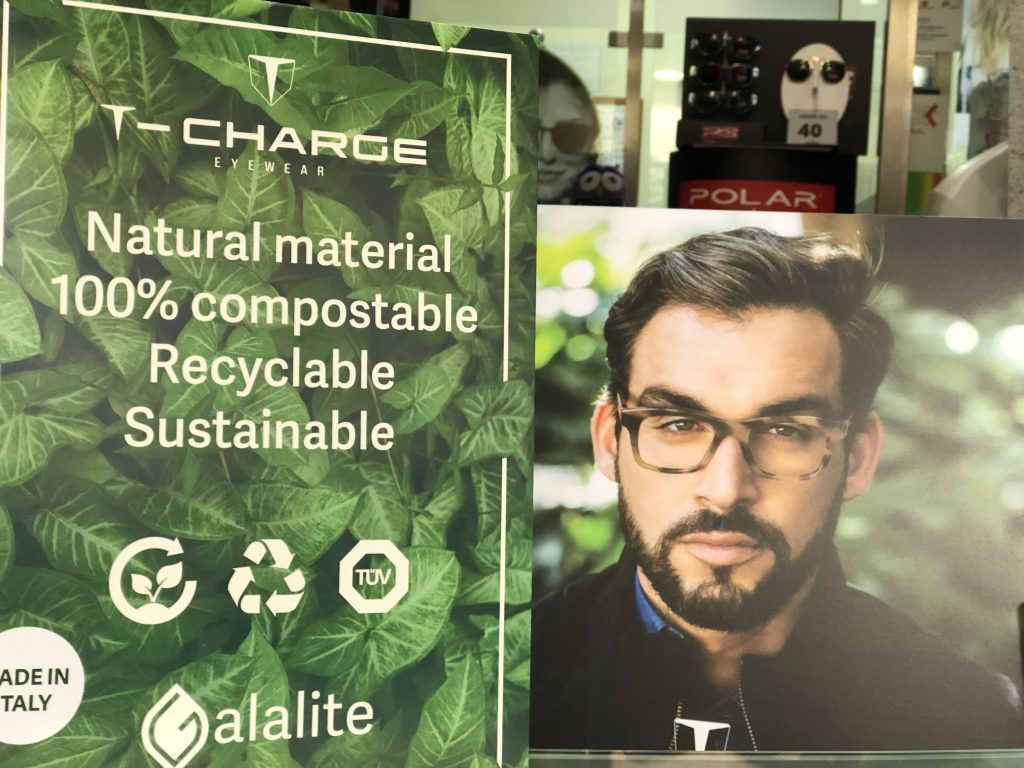Nueva colección biodegradable T-Charge Galalite - Óptica One Vision